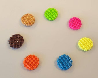 Waffles, Dollhouse Food, Kitchen Decor, Miniature Food, Doll Food, Fairy Food, Elf, Kawaii, Cabochons, Paper Craft Supplies, Decoden, 8 pcs