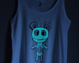 Skeleton Teddy Glow-in-the-dark Woman Tank top