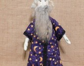 Handmade Primitive Wizard Doll