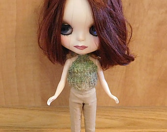 Blythe Knit Tops in Green Pink Blue