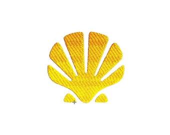 Sea Shell Embroidery Design. Coastal Pattern.