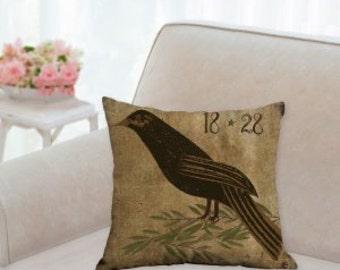 Country Raven Designer Pillow