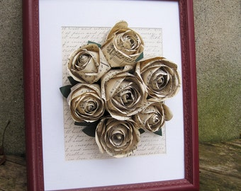 Framed Sheet Music Roses