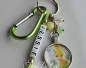 Keyring / Handbag charm / Bookbag charm / Lunchbox charm with Tinkerbell