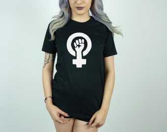 Image result for feminist t shirt fist