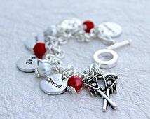 Lacrosse Bracelet - Lacrosse Mom Jewelry - Lacrosse Jewelry - Girls Lacrosse - Team Mom Gift - Girlfriend Bracelet - Varsity Lacrosse