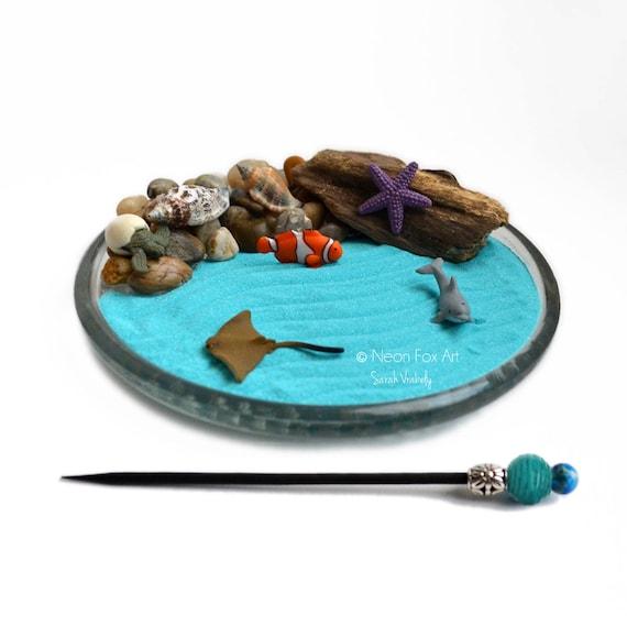 Mini zen garden ocean desk accessory diy by for Mini zen garden design ideas