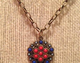 "20"" Indian Gems Necklace"