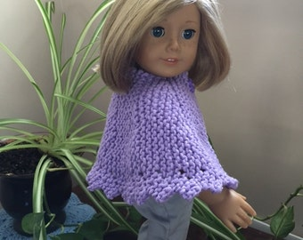 "PATTERN Knitted Lacey Cape for 18"" doll"