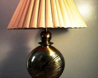 Vintage Hollywood Regency Brass Table Lamp