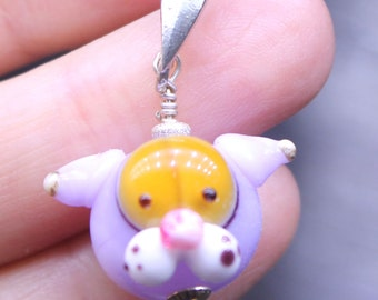 Crazy cat head pendant