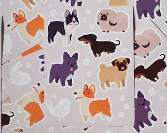Small Dogs Sticker Sheet