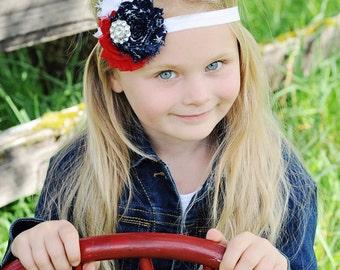 Independence Day Headband - 4th of July Headband - Red White and Blue Headband - July Fourth - Baby Headband - Adult Headband - America
