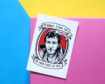 Bruce Springsteen, The Boss, mini A6 postcard print