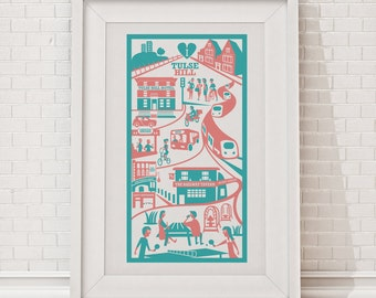 Tulse Hill Print / London illustration