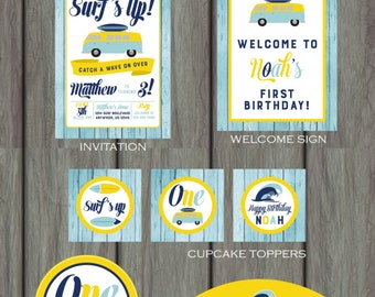 Surf's Up Birthday Party, Beach Birthday Party, Surf's Up Decorations, Beach Party Decorations, Surf's Up Party Kit, Beach Party Kit