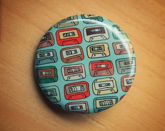 90s Tape Collection //  1.25 inch button