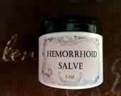 Hemorrhoid Pain Relief Herbal Salve 2 oz., Organic Pain Relief Salve, Hemorrhoid Pain Salve, Hemorrhoid Ointment, Hemorrhoid Balm