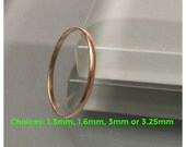 Thin Gold Wedding Band/ 18K Gold Ring