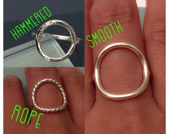 Sterling Silver Circle Ring, Circle Ring, sterling silver eternity ring, sterling silver thumb ring, sterling silver knuckle ring
