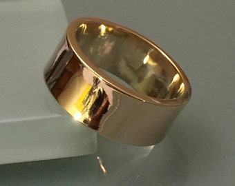 Wedding Ring 8mm wide, 14k Wedding Ring, 14k Yellow Gold Wedding Band