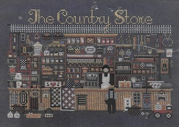 Told in a garden the country store counted cross stitch pattern amish charted design chart pack for Country garden 6 pack