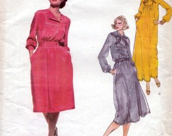 Vogue American Designer 1718, Bill Blass, dress sewing patterns, bust 87 cms, 70s sewing pattern