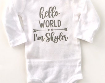 Hello World Boys, Coming Home Outfit Boys, Hello World, Coming Home Outfit, Newborn Outfit, Baby Shower Gift, take home outfit, baby boy
