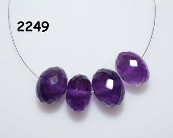 AAA Quality Amethyst Rondelle Faceted Beads size 10 mm ,Amethyst Gemstone Rondelle Faceted Beads 4pc (2249)