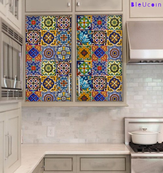 Kitchen cabinet drawer tile stickers removable by bleucoin - Decals for kitchen cabinets ...
