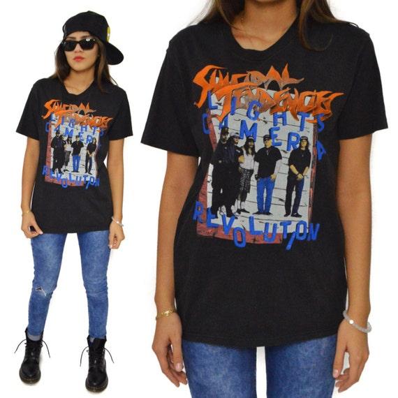 Vintage 90s Suicidal Tendencies Lights Camera Revolution You Can't Bring Me Down Tour T Shirt Sz  M