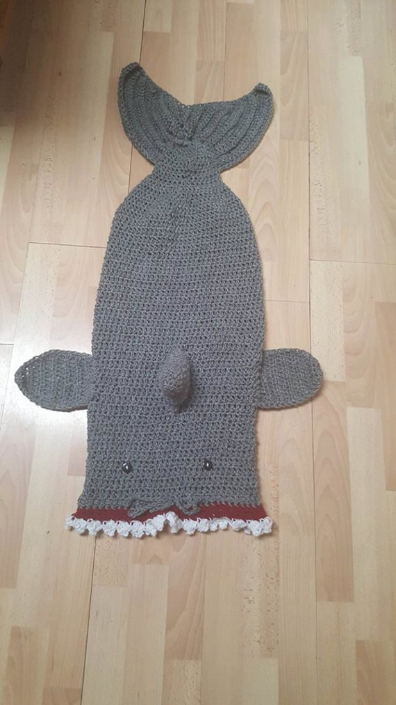 Shark tail blanket cocoon lapghan custom adult kids