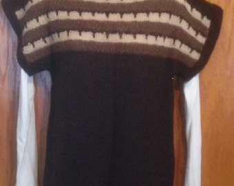 hand knitted alpaca sweater or vest.