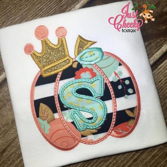 Pumpkin Princess Crown Embroidered Fall Shirt - Pumpkin Crown - Girls Fall Shirt - Fall Shirt - Harvest - Thanksgiving - Girls Pumpkin Shirt