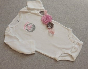 Baby Girl Golf Outfit. Daddy's Little Caddy. Embroidered Golf Ball. Newborn Girl Golf Bodysuit