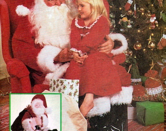 McCalls 8992, Santa Claus Costume Sewing Pattern, Size Extra Large, 46 to 48 Inch Chest, Santa's Sack Pattern, Santa Doll Pattern