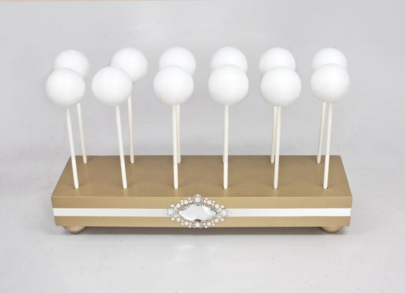 how to make a wooden cake pop stand