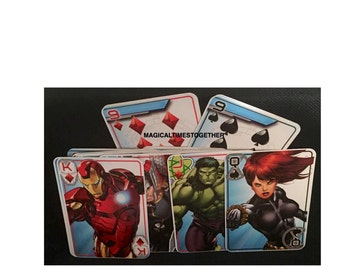 Marvel Avenger Jumbo Playing Cards......Party Favors......Birthday Parties.......Family Game Night.......