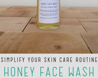 Honey face wash 4 oz // Honey face cleanser Natural skin care Sensitive skin Unscented skincare Raw honey skin care Under 50 Gifts for her