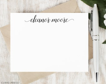 Personalized Note Card Set / Script Personalized Stationary / Calligraphy Stationery Personalized Notecard / Personalised // GRACEFUL SCRIPT