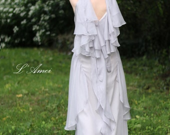 Custom made Vintage Silk chiffon Bridal Boho/Beach  Fairy Wedding Dress - Design by L'Amei 2016 -MX19833930
