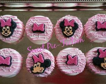 Minnie Mouse Oreos, Mickey Mouse Oreos, Baby Minnie Oreos, Baby Mickey, 1st Birthday  - 1 dozen