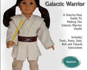Pixie Faire Read Creations Galactic Warrior 18 Inch Doll Clothes Pattern fits American Girl Dolls - PDF Download