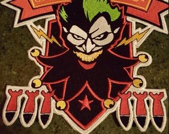 Bombshell Harley back jacket patch - iron-on