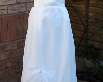 Edwardian wedding dress, ivory wedding dress, debutante dress, modest wedding dress, Titanic Downton Abbey vintage styled, UK Made to order