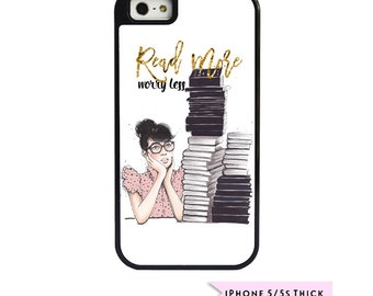 iPhone Case, Cute iPhone Case, Girly iPhone Case, iPhone 5/5S Case, iPhone 6 Plus Case, iPhone 6 Case, Reader Gifts, Bookworm Gift
