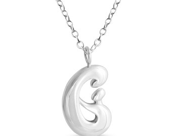 Mother and Child Hand in Hand Pendant Necklace #925 Sterling Silver #Azaggi N0798S