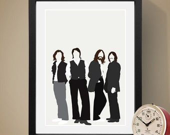 The Beatles Poster, Music Poster, Music Print