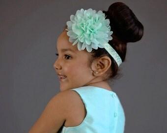 Aqua Flower Headband, Aqua Flower Girl Headband, Aqua Hair Bow, Aqua Flower, Aqua Flower Girl, Aqua Headband, Aqua Accessories, Aqua Bows