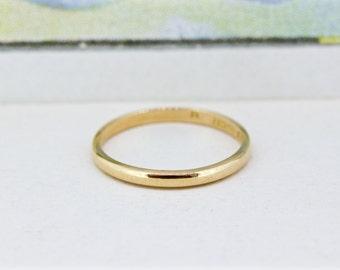 Simple Diamond Wedding Band 1960s Jewelry Mid Century Ring